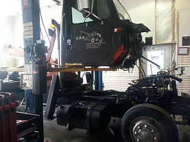Company Tow Truck Engine Replacement