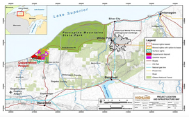 Project Location and Infrastructure Map