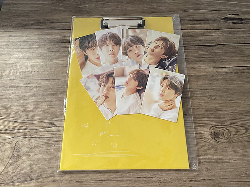 [VINTAGE] BTS 2018 Oneul Merch: Clipboard with Mini Photocard set