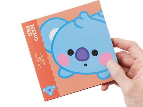[ON HAND] BT21 Baby Koya Memo Pad