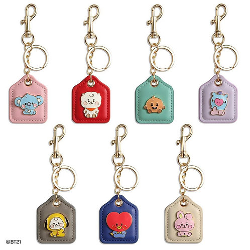 [PRE-ORDER] Monopoly x BT21 Baby Leather Metal Key Ring
