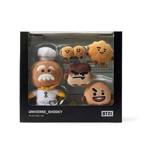 [ON HAND] BT21 Universe Shooky Plush Doll Set