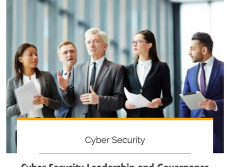 Cyber Security Leadership and Governance