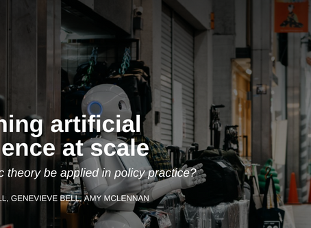 Governing artificial intelligence at scale