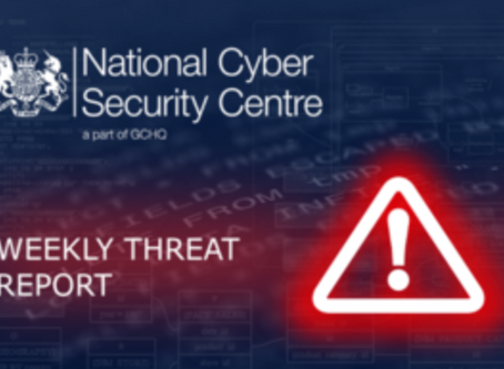 Weekly Threat Report 28th September 2018