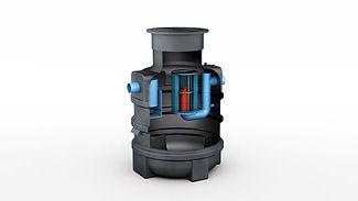 3D Rendering Aquafix olie afscheider Ima