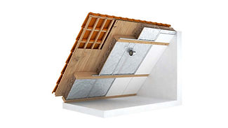 Renovatie hellend dak 3D Visual Imagine