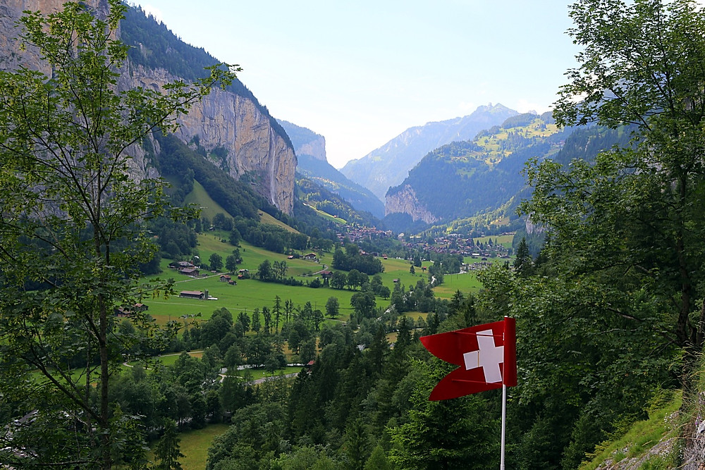 Lauterbrunnen Valley, from Trümmelbach Falls