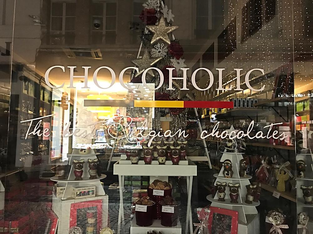Chocolate shop in Brugges, Belgium
