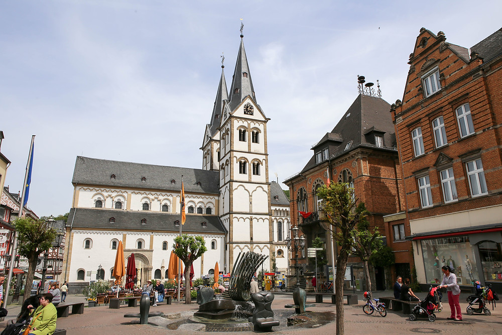 Central market with St Severus church, places to picnic and enjoy lunch