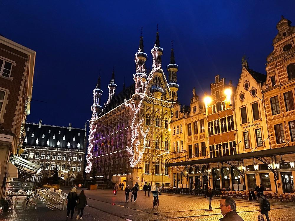 Historic Leuven Town Hall & Grote Market