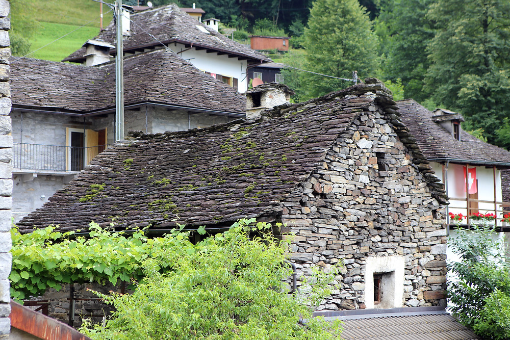 Old house built from rocks and slate