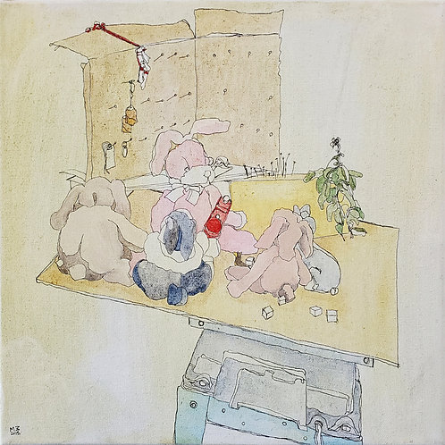 "Marta McWhorter-""Basil Bunnies I"""