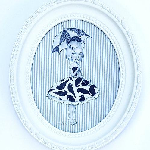 "Lisa Ocampo - ""Fashion Plate in Stripes"""