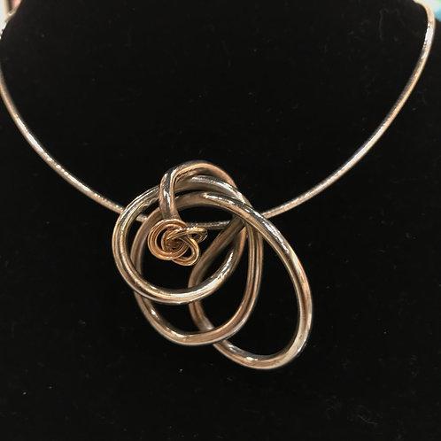 """Nancy Boyd-""""Knot Silver"""" Necklace"""