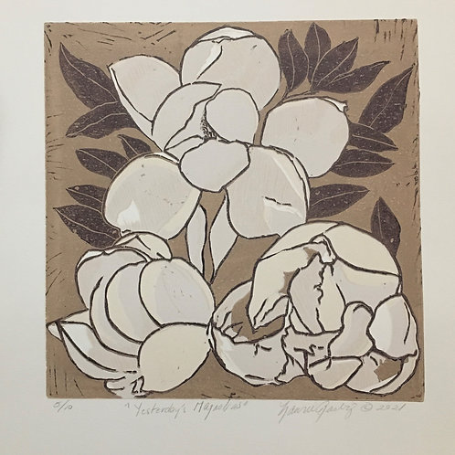 Laurie Darby-Yesterday's Magnolias Unframed