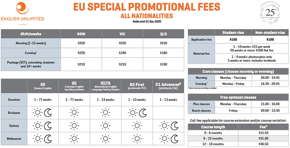 English Unlimited Special Promotion 2020