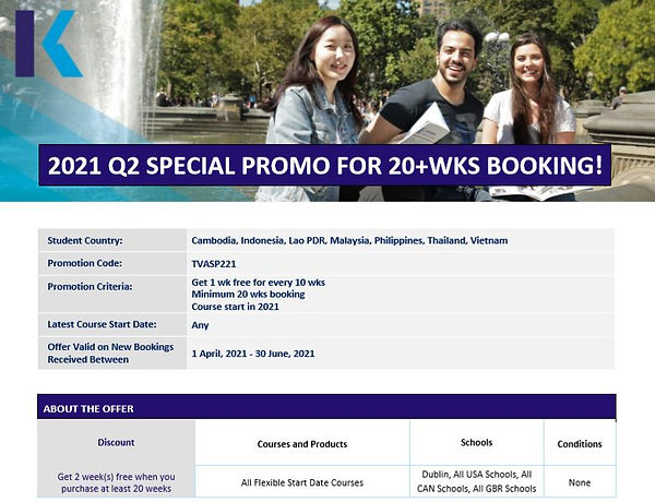 2021 Q2 SPECIAL PROMO FOR 20+WKS BOOKING