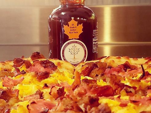 Breakfast Pizza by Merrill's?! Yes!
