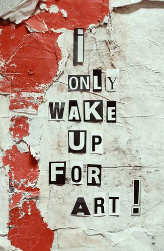 KERSTIN VERSCH - I ONLY WAKE UP FOR ART !