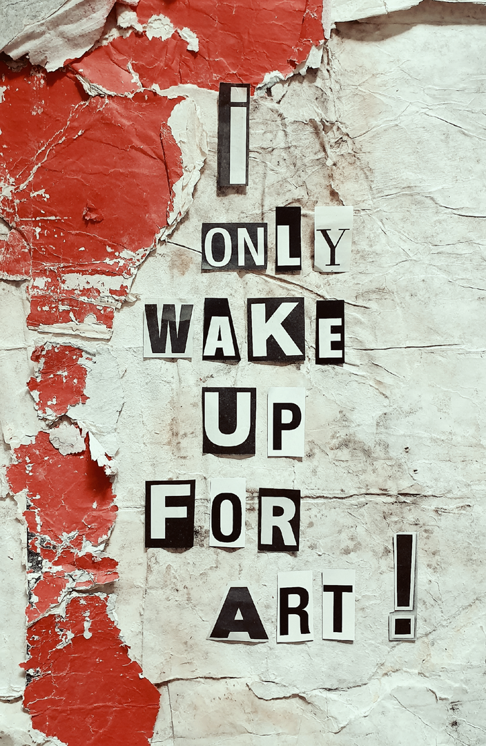 KERSTIN VERSCH - I ONLY WAKE UP FOR ART !