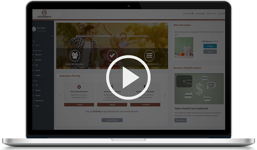 Our web-based platform eliminates the frustrations of traditional group health insurance enrollment and replaces them with enjoyable experiences for benefits administrators and employees.