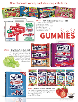 $1 and $2 Gummies All Flavors Single Fly