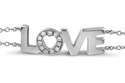 LOVE bracelet Diamond O - White gold