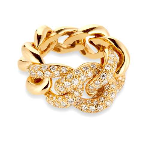 Gourmette Ring - yellow gold