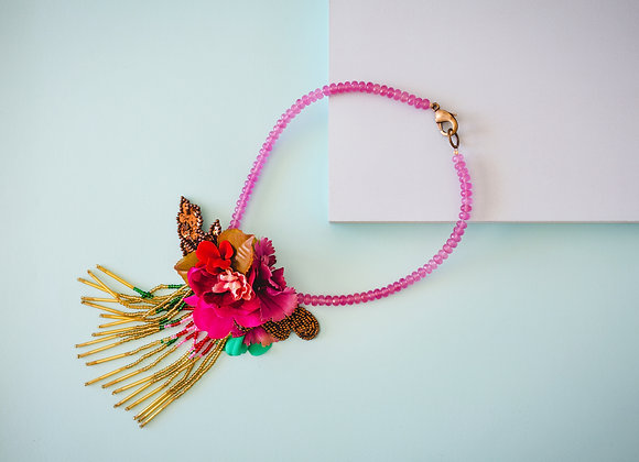 Pink Fall Necklace