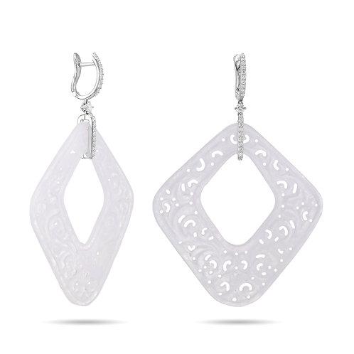 White Jade- Diamonds and White Gold
