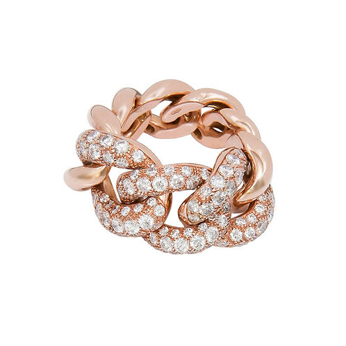 Gourmette Ring - Rose gold