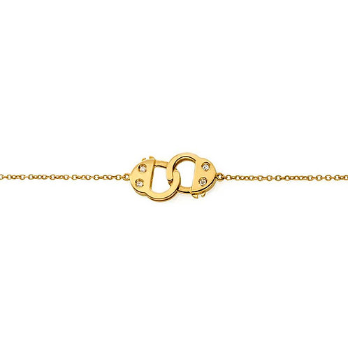 Handcuff  Bracelet -Yellow gold