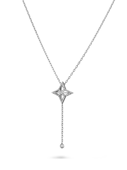 Star Necklace- white gold