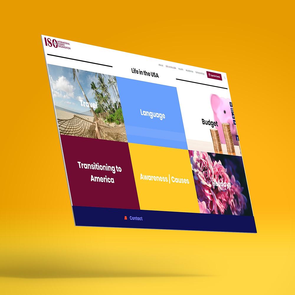 """*האתר המוצג מטה הוא של ISO ביטוח רפואי לסטודנטים זרים בארה""""ב. בעבודה משותפת עם אחת מקסימה בשם Maayan Raviv. האתר הנ""""ל באמצעות פלטפורמת WP. http://www.intlstudent.org/"""
