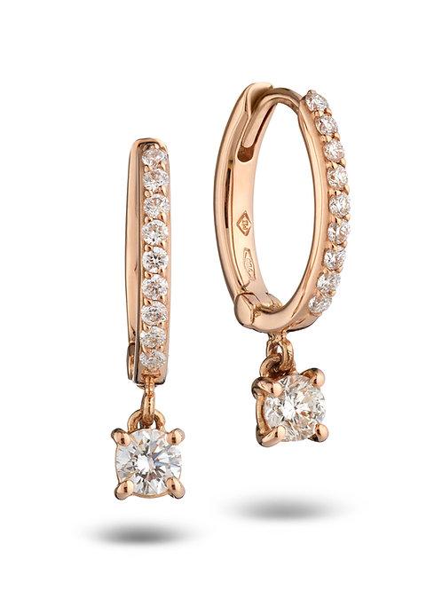 Huggies Earrings White Diamonds