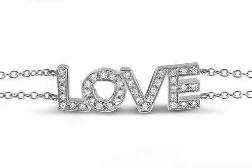 LOVE pave' bracelet - White gold