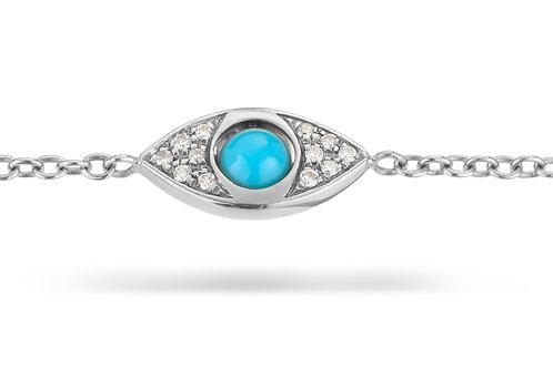 EyeBall Bracelet - White Gold