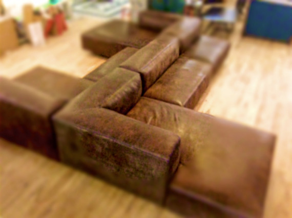 brown sofa for wework