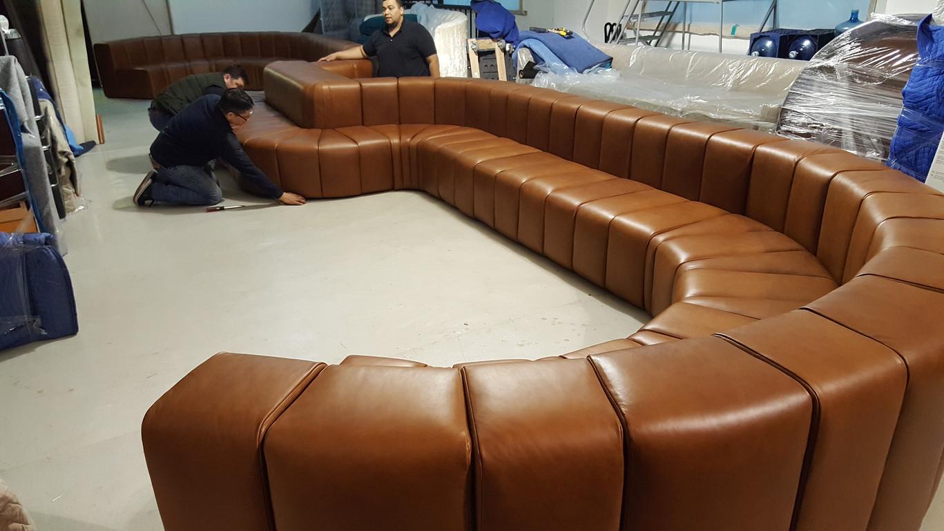 custom made sofa for bank of america