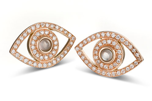 Eye  Diamonds earrings Rose' Gold