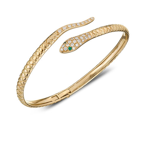 Snake Cuff - Yellow gold