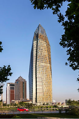 Allianz Tower - Powder Coated Aluminum Perforated_ Embossed Facade - Istanbul_Turkey - Facade Detail