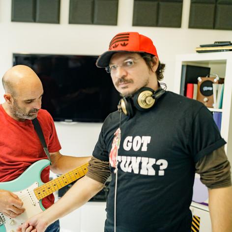 Gilad Bloom & Tom Moshiach in the studio