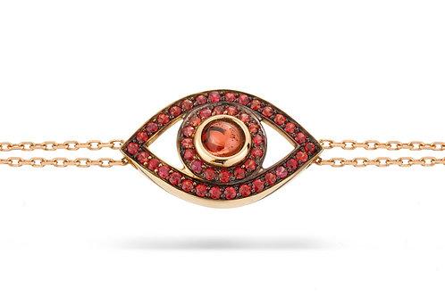 Eye Bracelet in Red Sapphire