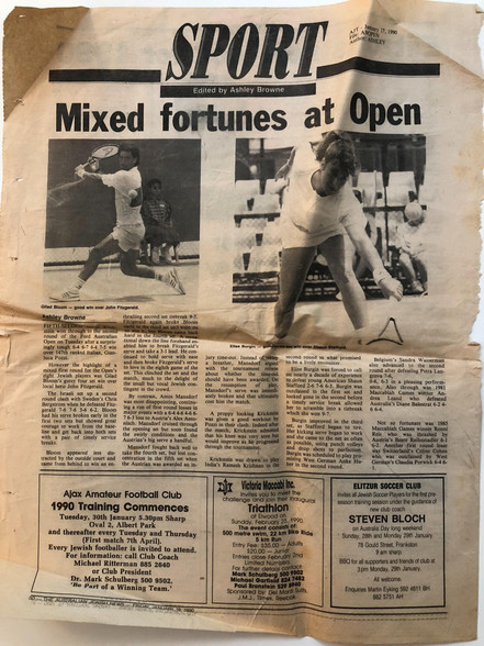 Sport - mixed fortunes at open