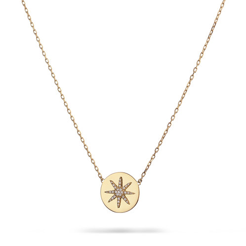 SOLE Necklace- Yellow gold