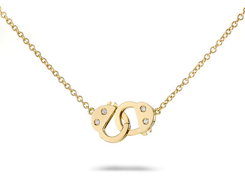 Handcuff Necklace -Yellow gold