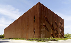 Raif Dinçkök Cultural Center - Perforated Corten Steel Facade - Yalova_Turkey