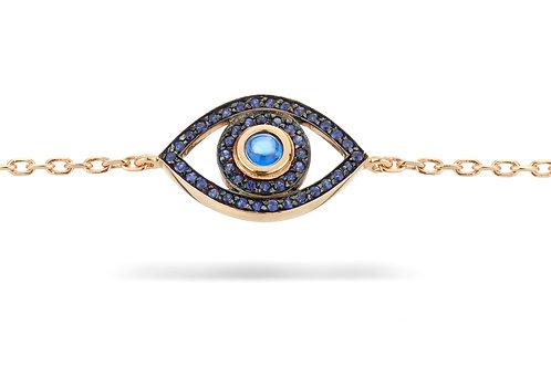 Mini Eye Bracelet -Blue Sapphire